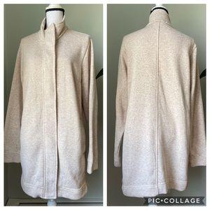 Land's End ivory/oatmeal sweater jacket size XL